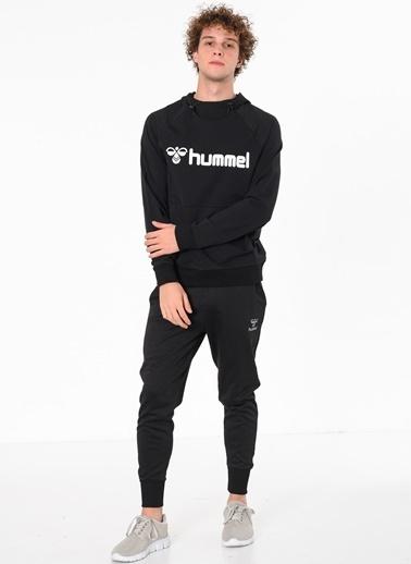 Hummel Baskılı Kapüşonlu Sweatshirt Siyah